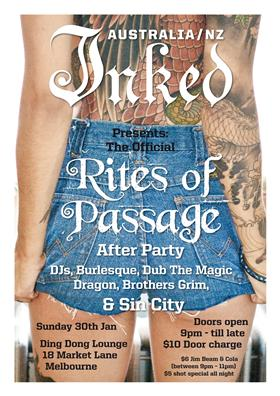 Inked presents: The Official RItes of Passage After Party